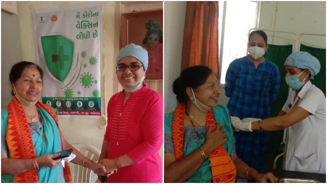 Former Vadodara MP Jayaben Thakkar took corona vaccine