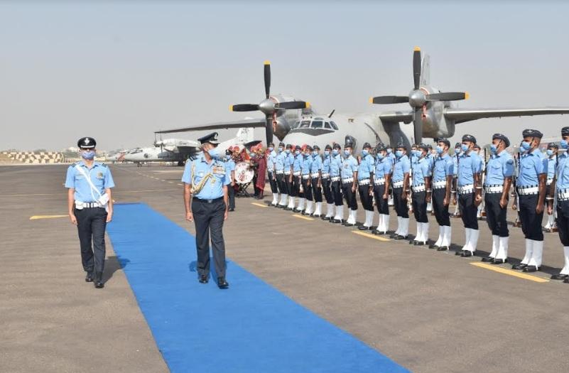 Air Marshal SK Ghotia, Air Officer Commanding-in-Chief, SWAC visited Air Force Station Vadodara