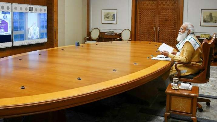 Prime Minister Narendra Modi chairs a meeting on COVID-19 situation in the country