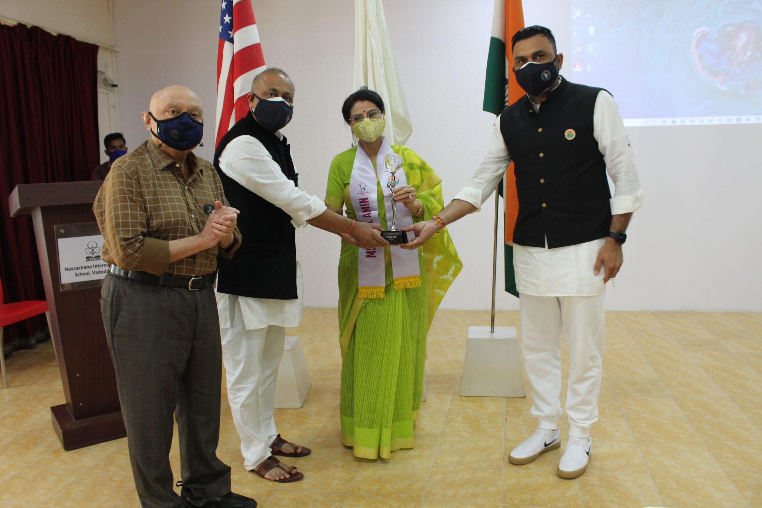 Tejal Amin honoured by Award from USA's FIA on International Women's Day