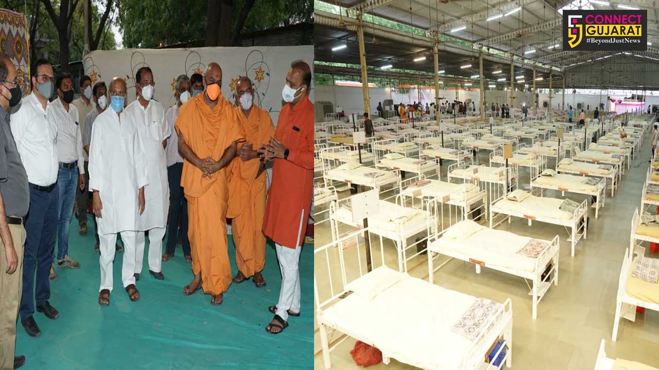 500 bed dedicated covid hospital at BAPS in Vadodara started functioning from Tuesday