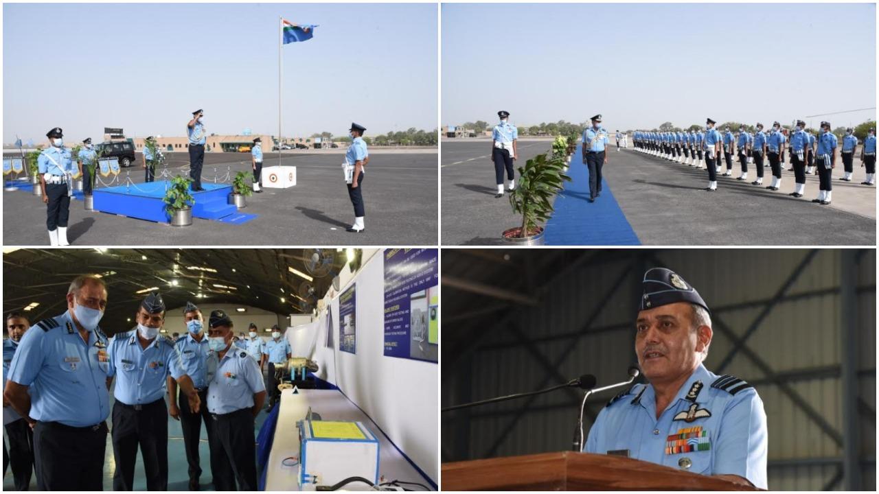 Air Marshal SK Ghotia visited Air Force Station Jamnagar