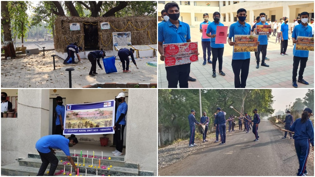NCC cadets of Gujarat directorate observes Jallianwala Remembrance Day