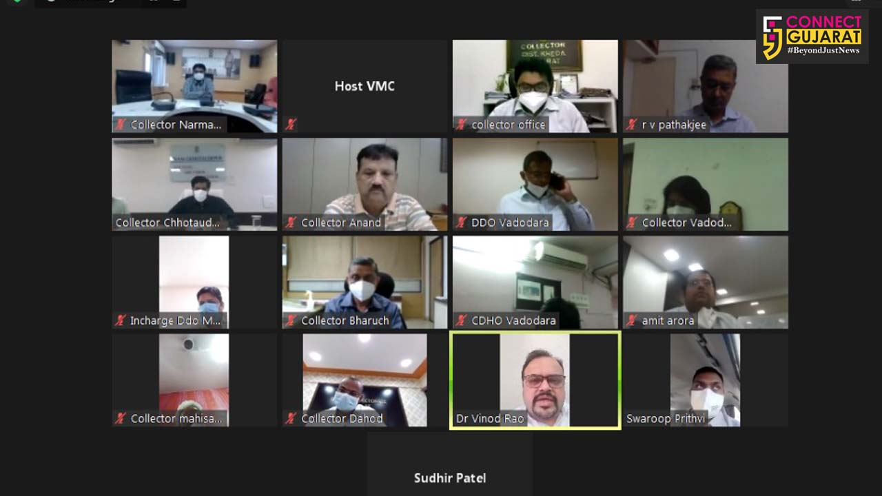 OSD video conference with collectors in view of patients inflow from other districts in Vadodara