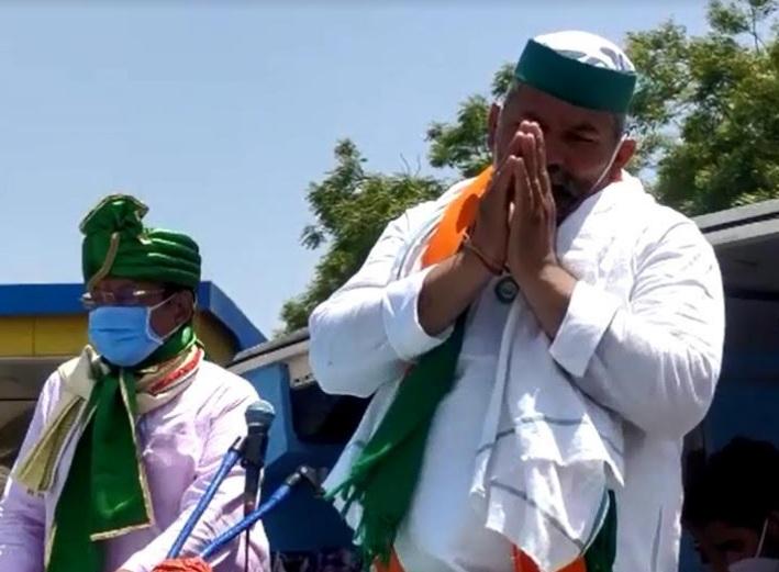 Farmer leader Rakesh Tikait arrived in Vadodara