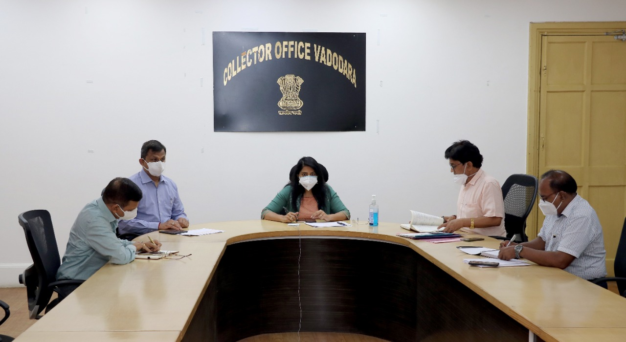 Vadodara District Collector conducts online review of covid and health situation in the talukas