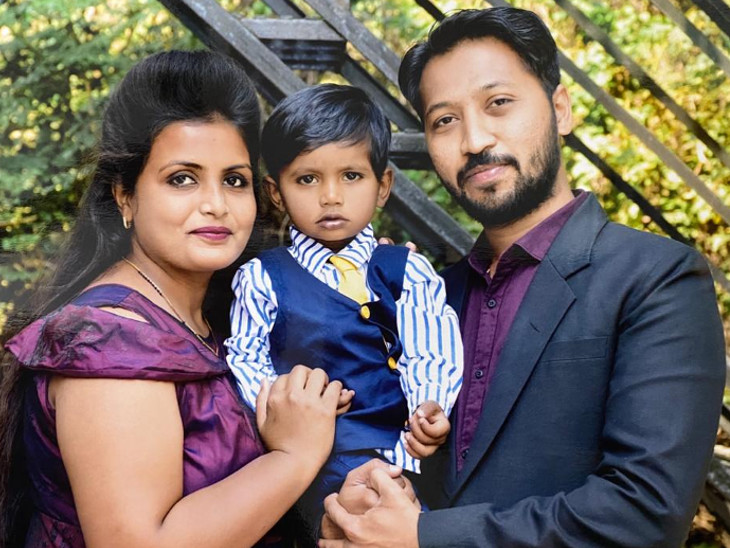 2 year old son of the nurse in Vadodaras Gotri hospital eagerly waiting for her return to home