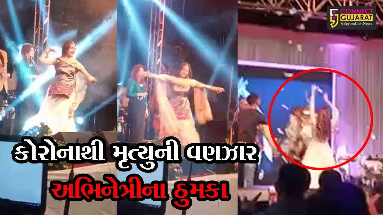 Gujarati actress musical night at Padra attended by people in big numbers