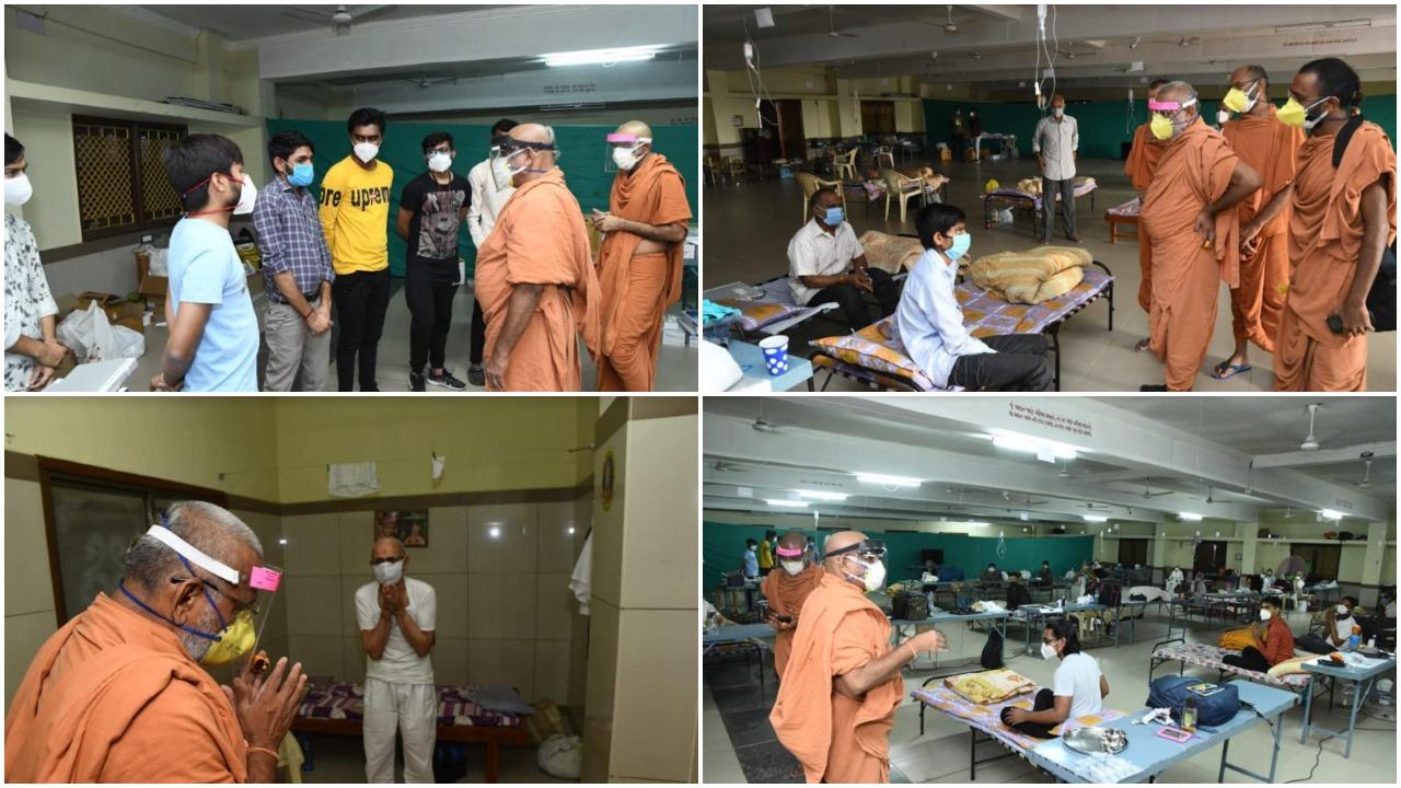 Essential care of corona patients at Swaminarayan temple at Karelibagh in Vadodara