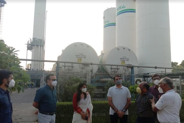 OSD, collector and SP visited Inox Plant at Karjan