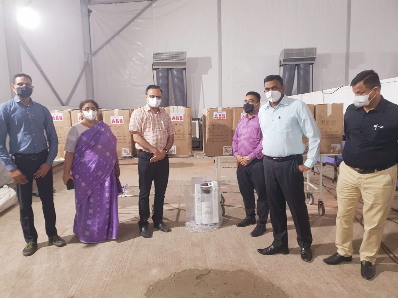 ABB donated 10 Oxygen Concentrators to Gotri Hospital