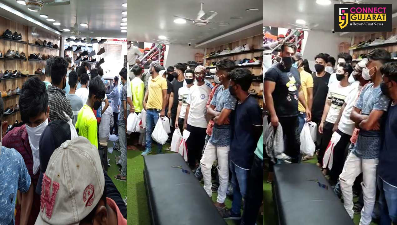 Vadodara police detained shop owner for doing business and violation of covid guidelines