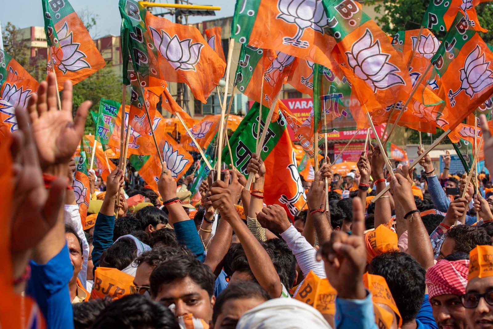BJP protest in Vadodara over post poll violence incidents in West Bengal