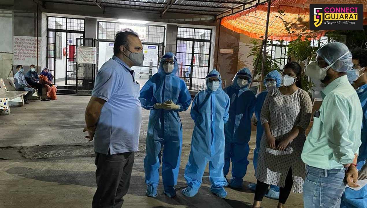 OSD midnight visit to Gotri Covid hospital in Vadodara