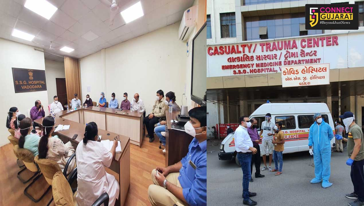 OSD interacted with relatives of patients and doctors at SSG Vadodara