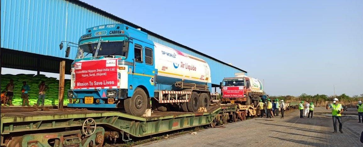 Two more Oxygen Express departs from Vadodara division of Western Railway