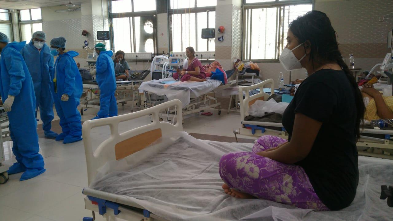 Corona infected physiotherapy girl from Bharuch gets new life at Sayaji hospital Vadodara