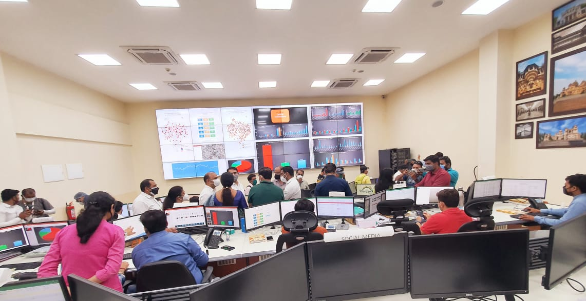 Oxygen Stock Consumption Live Desk Board launched at City Command Center in Vadodara