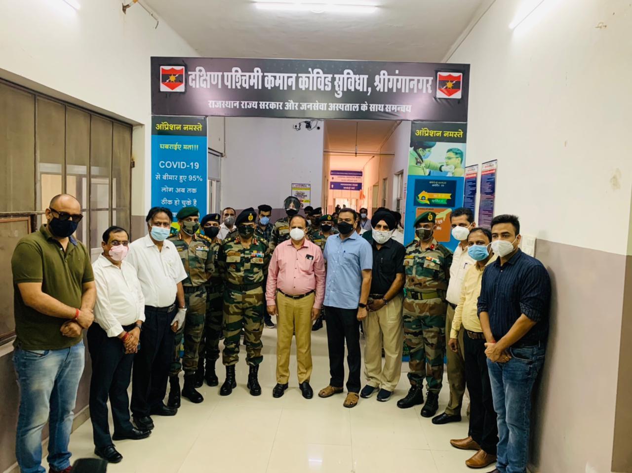Indian Army dedicates 50 bed covid facility in Sriganganagar