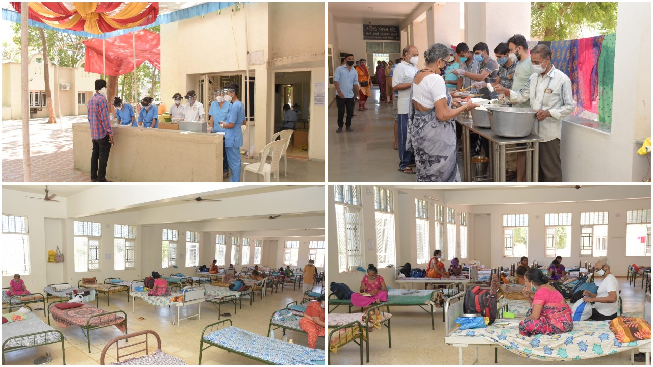 Sumeru Navkar Tirth Covid Care Center in Karjan becomes a center for treatment and care of patients